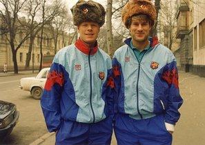 Koeman y Laudrup: Del frío de Kiev al calor de Wembley. Poco antes de gritar el gol más importante de la historia del Barça, Ronald Koeman paseaba por las calles de Kiev con Michael Laudrup