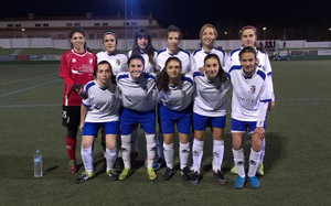 Las jugadoras del CFF Albacete B posan antes de disputar un partido