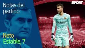 Las notas del Barça - Atlético en la primera parte