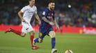 Leo Messi, en una acción del Barça-Sevilla de la Liga 2017/18