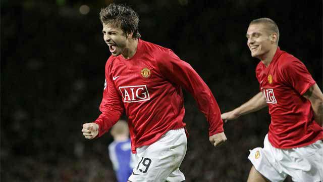 Los goles de Piqué con el Manchester United