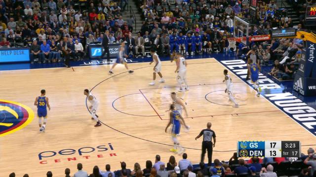 Los Nuggets ganaron por la mínima a los Warriors