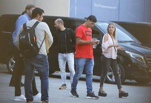 Luís Suárez y David Beckham juntos en Barcelona para rodar un anuncio