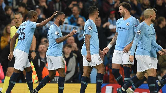 El Manchester City se da un festín ante el Shakhtar