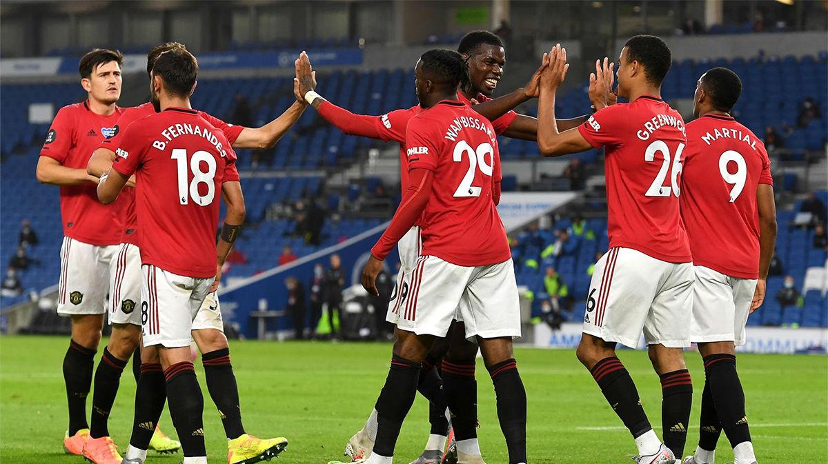 El Manchester United golea al Brighton