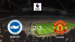 El Manchester United se queda con los tres puntos tras ganar 2-3 al Brighton and Hove Albion