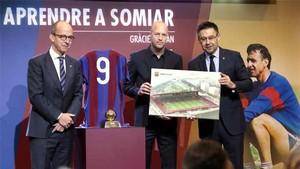La maqueta del nuevo estadio Johan Cruyff se presentó hace unos días
