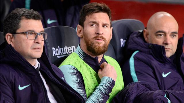 Messi fue suplente y tuvo que salir para iniciar la remontada