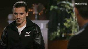 Un momento de la entrevista de Jorge Valdano al azulgrana Antoine Griezmann