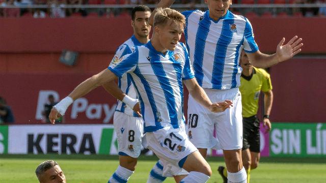 Odegaard ya marca con la Real Sociedad