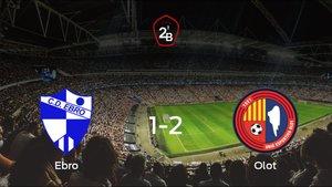 El Olot gana 1-2 en el feudo del Ebro