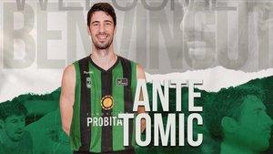 La Penya ha anunciado así el fichaje de Ante Tomic