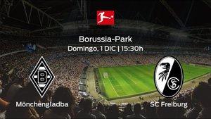 Previa del encuentro: el Borussia Mönchengladbach recibe al SC Freiburg en la decimotercera jornada