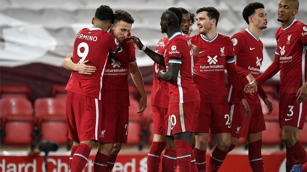 El resumen de la goleada del Liverpool al Leicester