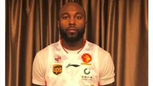 Rice se fotografió con la camiseta del que será su nuevo equipo en China