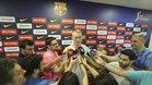Rolands Smits, este jueves en la zona mixta del Palau Blaugrana