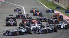 Salida de la última edición del GP de Bahrein de F1 que ganó Nico Rosberg
