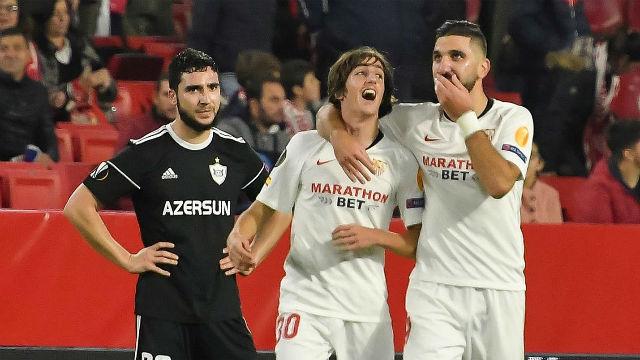 El Sevilla vence sin problemas al Qarabag