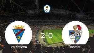 El Valdefierro suma tres puntos tras vencer 2-0 al Binéfar
