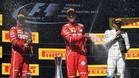 Vettel, Bottas y Raikkonen
