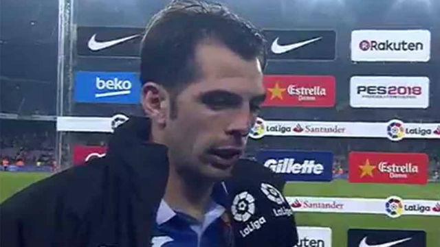 Víctor Sánchez habló tras la eliminación del Espanyol