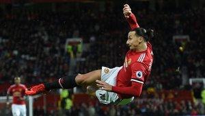 Zlatan durante su paso por el United