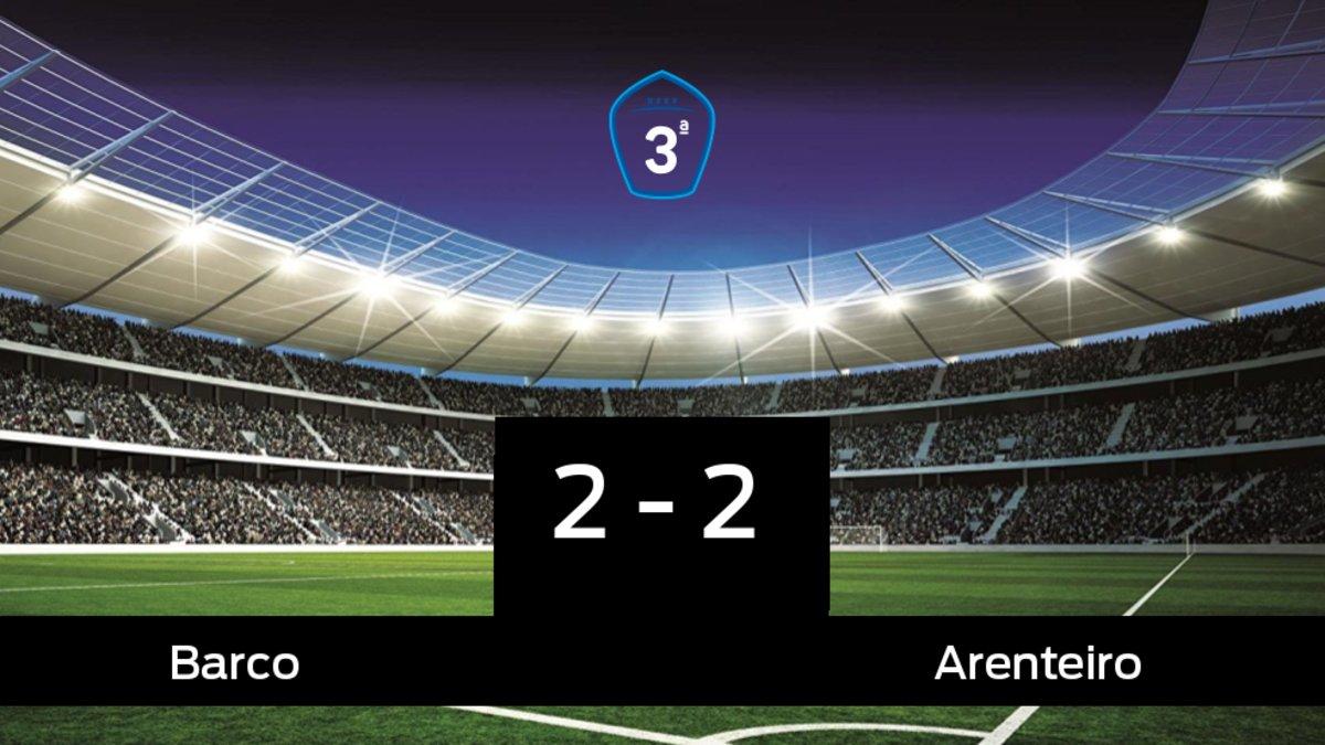 Reparto de puntos entre el Barco y el Arenteiro, el marcador final fue 2-2
