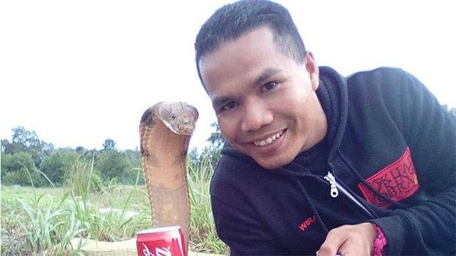 Abu Zarin Hussin era un especialista domador de serpientes