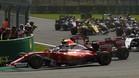 La agresividad de Verstappen en el GP de Bélgica fue muy comentada en Italia por los pilotos