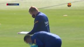 Así ha sido el último entreno del Barça antes del partido ante el Celta