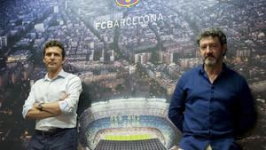 Bakero y Amor siguen defendiendo el modelo de cantera del Barça, aunque admiten que el club debe trabajar en fórmulas para asegurarse el blindaje de sus promesas