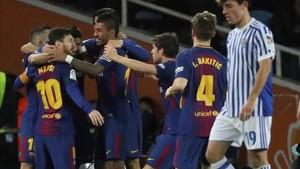 El Barcelona convirtió Anoeta en territorio blaugrana