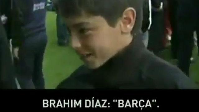 Brahim Diaz era del Barça: el vídeo que demuestra sus verdaderos colores