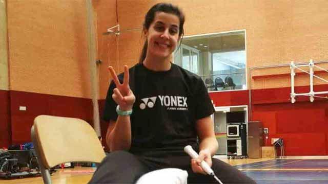 Carolina Marín vuelve a los entrenamientos una semana después de la operación