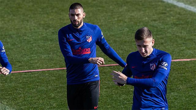 Carrasco ya entrena con el Atlético