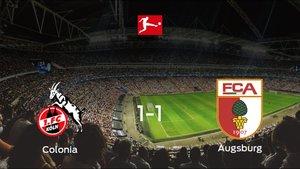 El Colonia y el FC Augsburg suman un punto tras empatar a uno