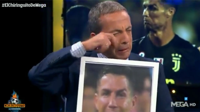 Cristobal Soria imita a Cristiano Ronaldo tras sus lamentos por ser expulsado