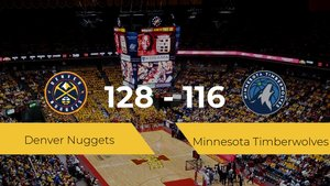Denver Nuggets consigue la victoria frente a Minnesota Timberwolves por 128-116