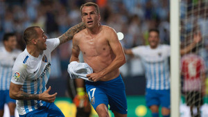 Duda celebra un gol contra el Athletic de Bilbao esta temporada