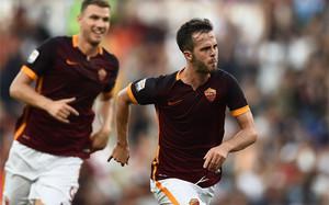 Dzeko y Pjanic, los goleadores contra la Juventus