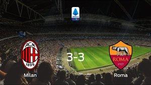 Empate a tres entre el AC Milan y la AS Roma