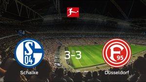 El Fortuna Düsseldorf logra un empate a tres ante el Schalke 04