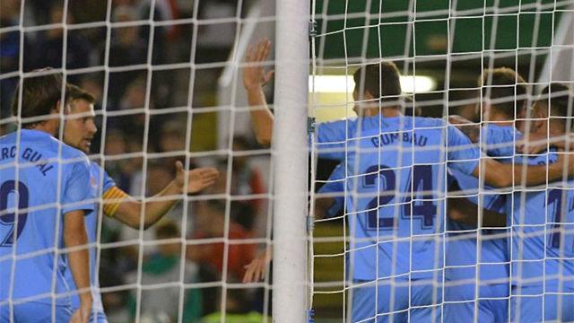 El Girona golea en el Sardinero