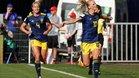 Jakobsson celebra su gol ante Alemania
