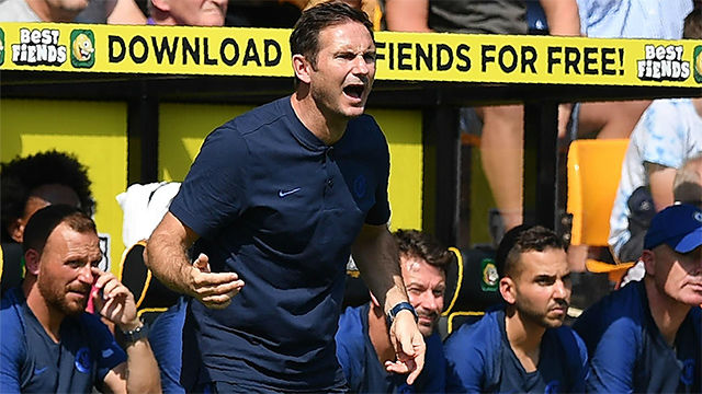 Lampard, satisfecho y aliviado en su primera victoria de la temporada