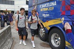 Las imágenes del viaje del FC Barcelona a Miami