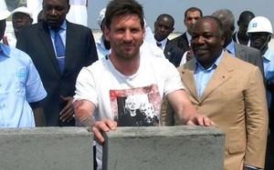 Leo Messi colocó la piedra en Gabón