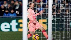 Leo Messi volvió a ver puerta en el primer partido del año en Getafe