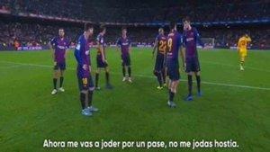 Luis Suárez y Gerard Piqué discutieron tras el partido