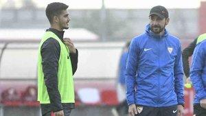 Machín prepara el choque ante el Barça